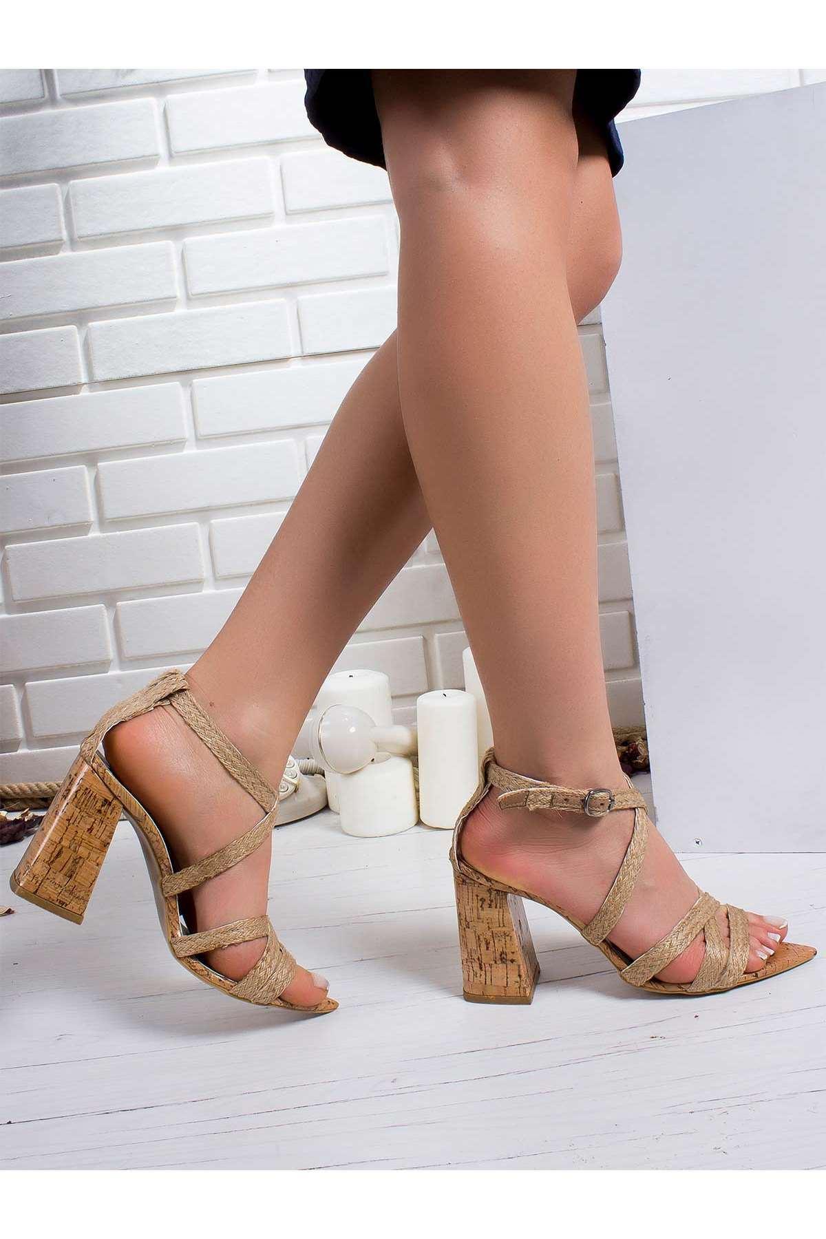 Vero Topuklu Ayakkabı TABA