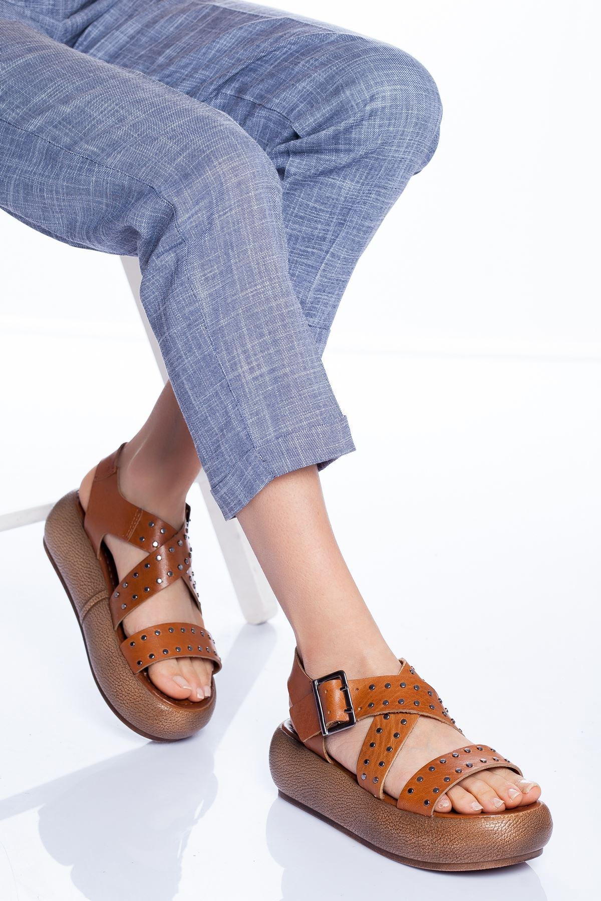 Dana Hakiki Deri Sandalet TABA