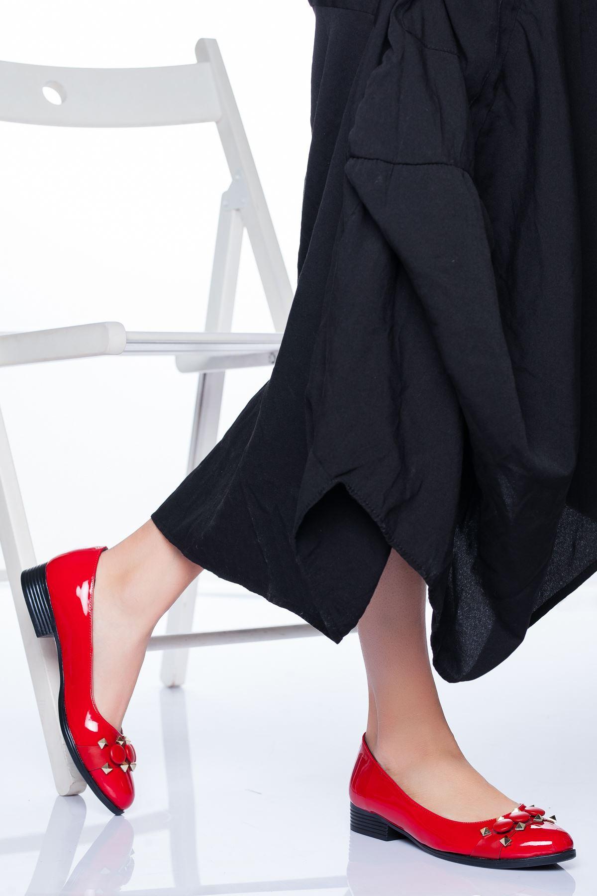 Lucy Babet Ayakkabı Kırmızı Rugan