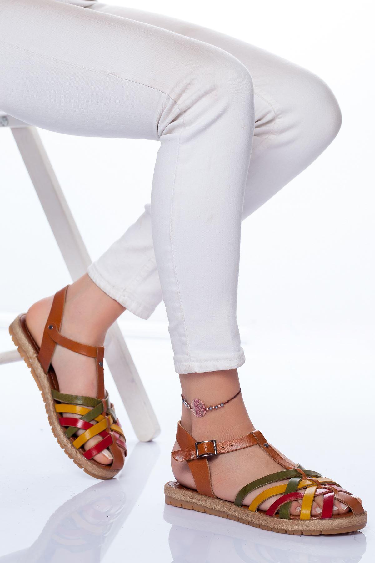 Holle Deri Sandalet MİX