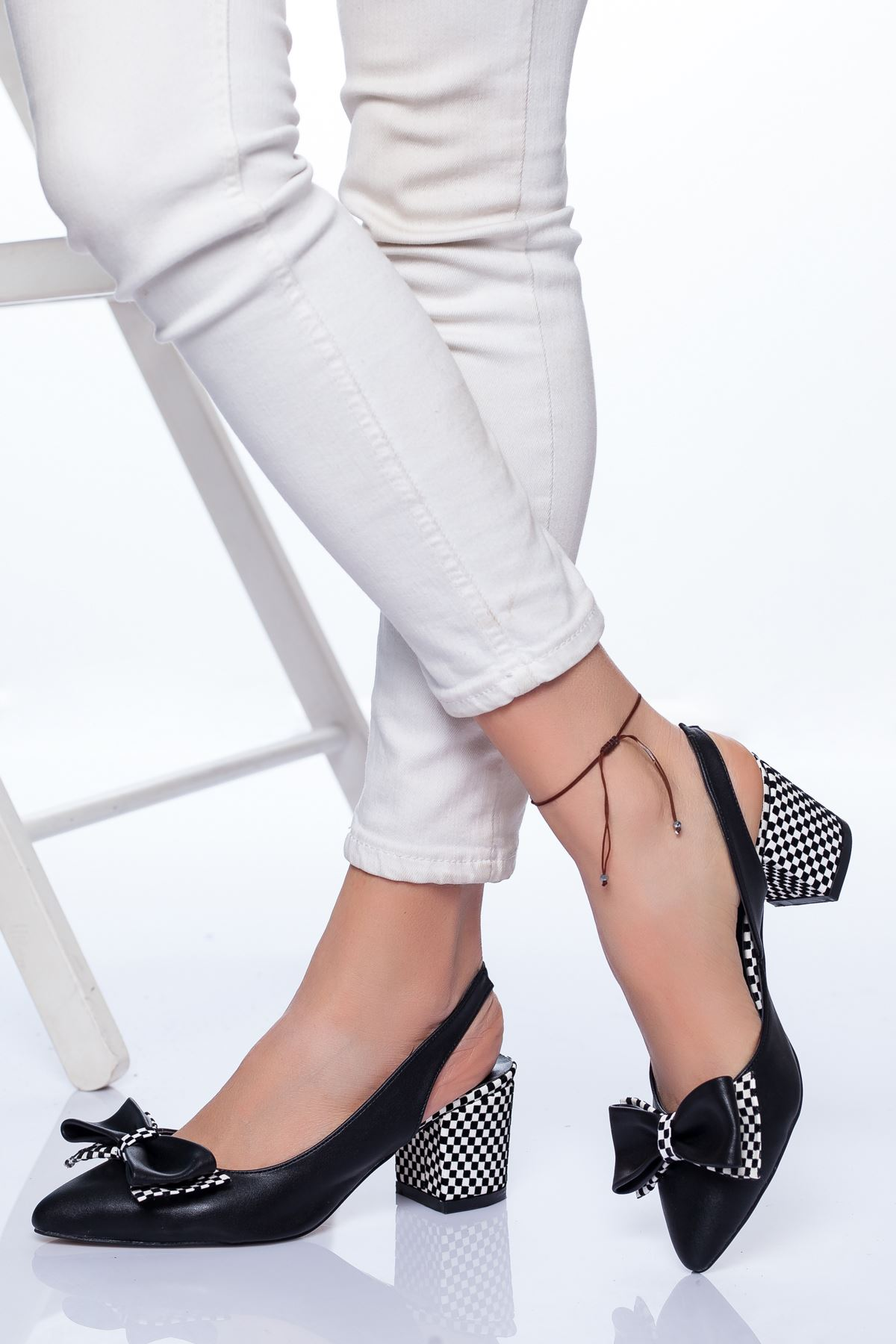 Chano Topuklu Ayakkabı SİYAH CİLT
