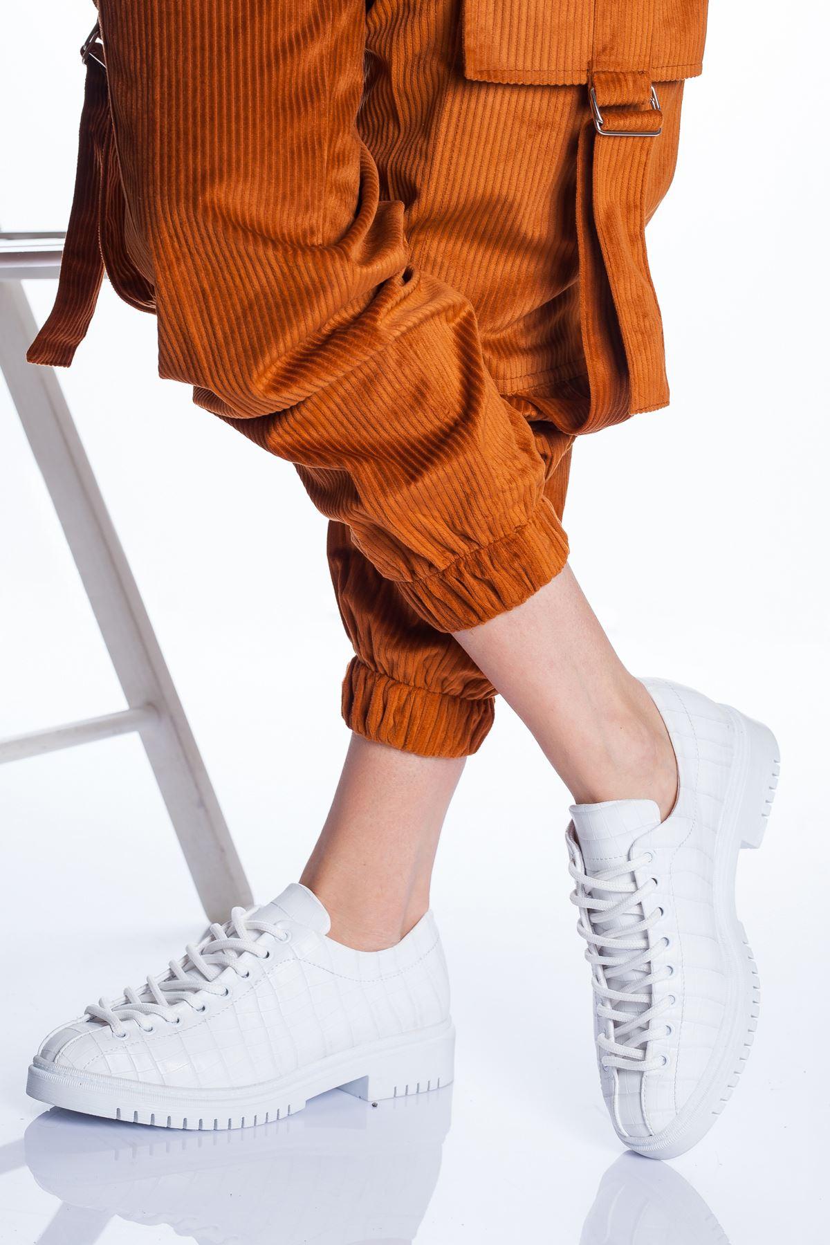 Tamara Ayakkabı BEYAZ CROC