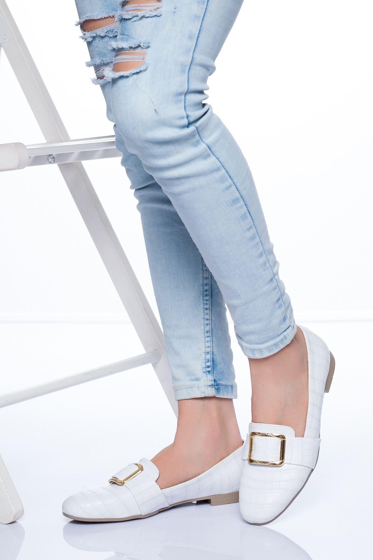 Hazel Babet Ayakkabı BEYAZ CROC