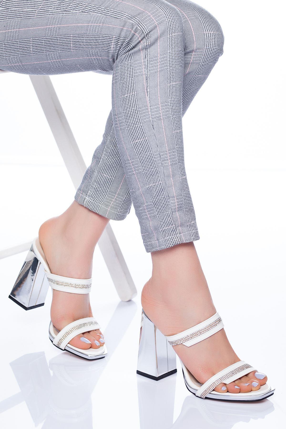 Ramsey Topuklu Ayakkabı BEYAZ