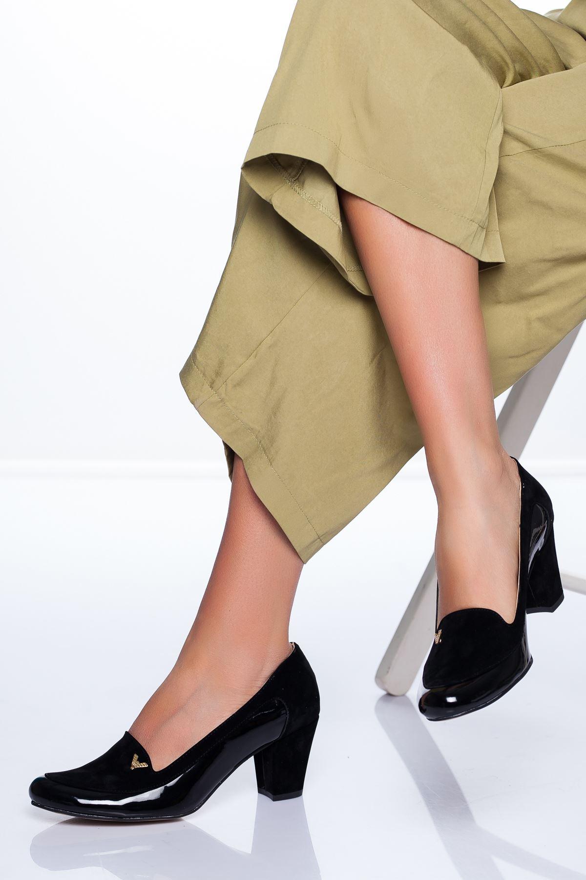 Maxx Topuklu Ayakkabı SİYAH RUGAN