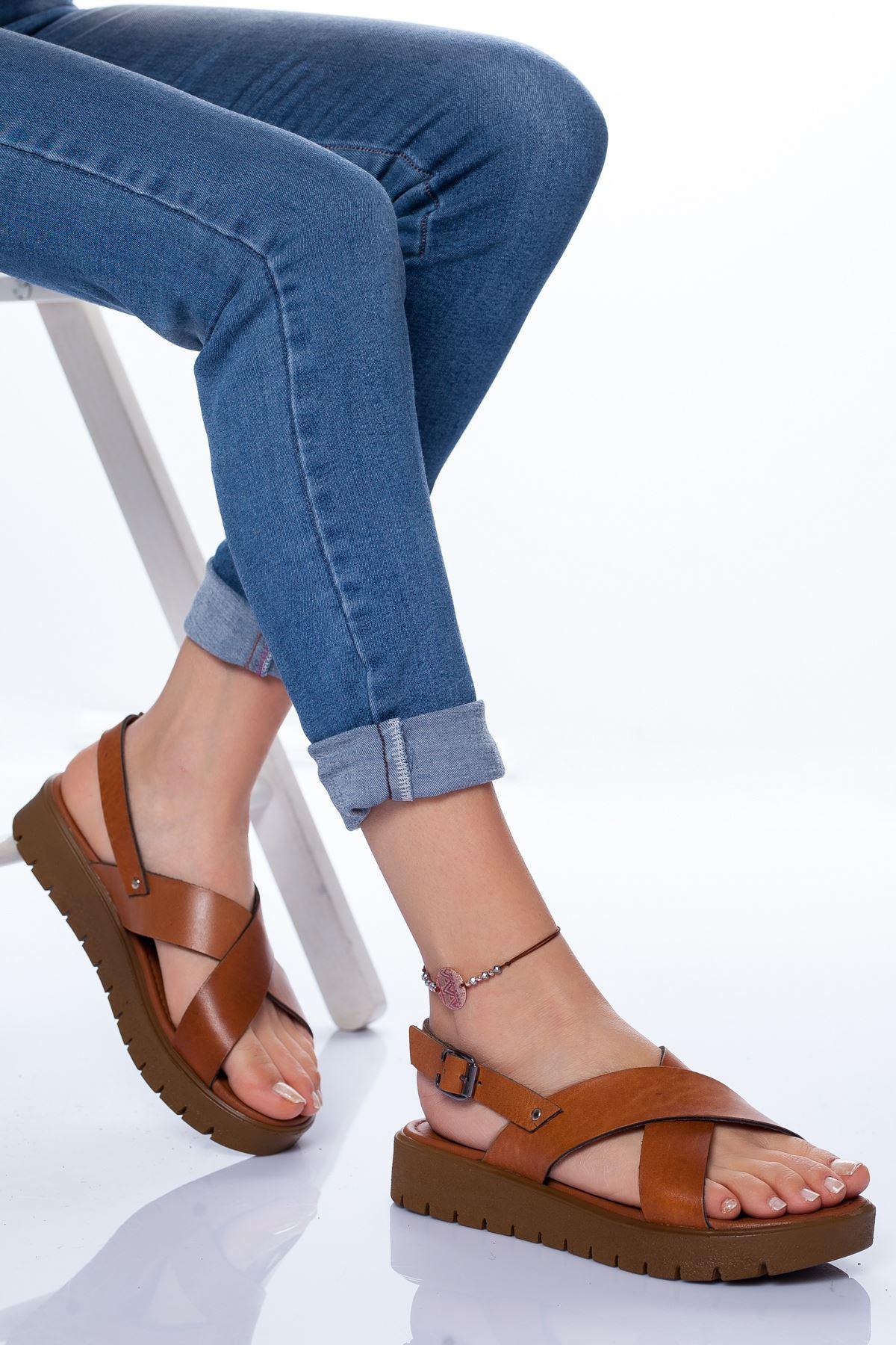 Cari Hakiki Deri Sandalet TABA