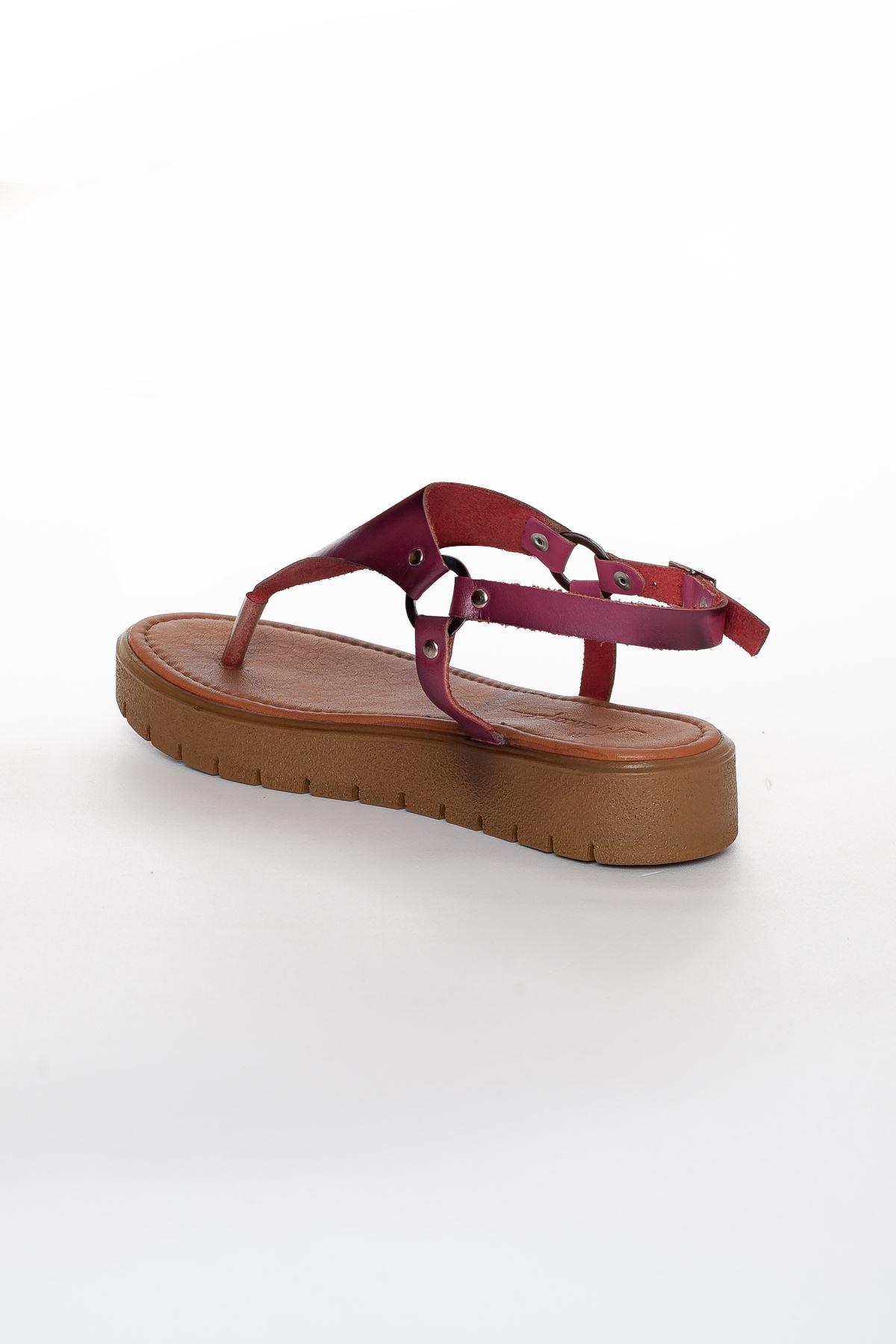 Alix Deri Sandalet MİX