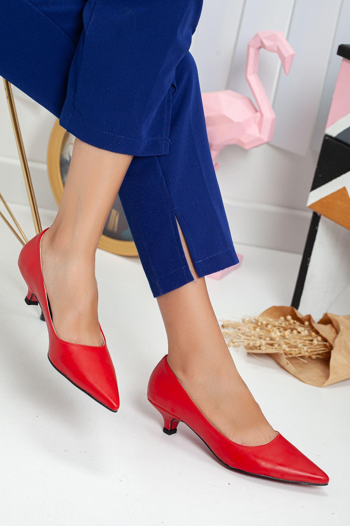 Odella Topuklu Ayakkabı KIRMIZI