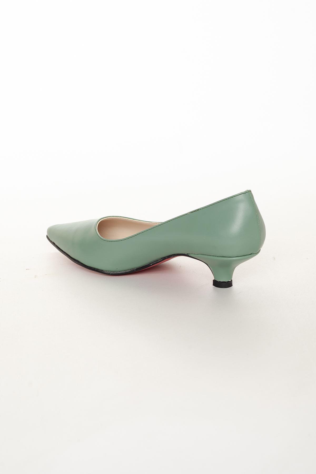 Odella Topuklu Ayakkabı YEŞİL