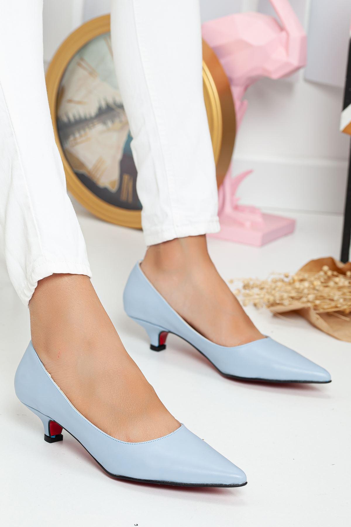 Odella Topuklu Ayakkabı MAVİ