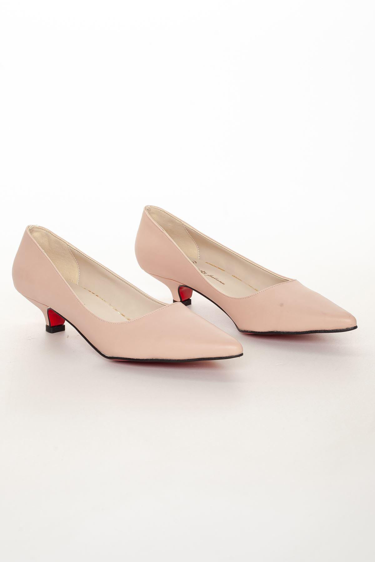 Odella Topuklu Ayakkabı PUDRA