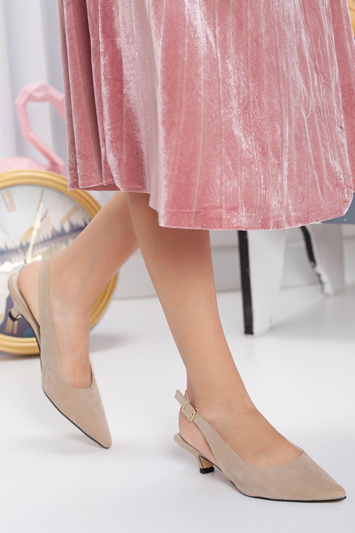 Mira Topuklu Ayakkabı TEN SÜET